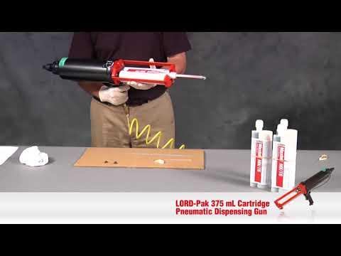 LORD Pak™ 375mL Cartridge Pneumatic Dispensing Gun