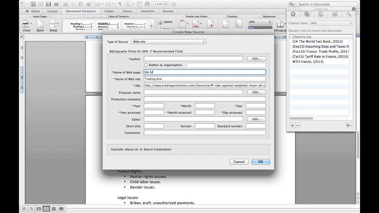 Citas Y Bibliografia Apa Office 2011 Mac