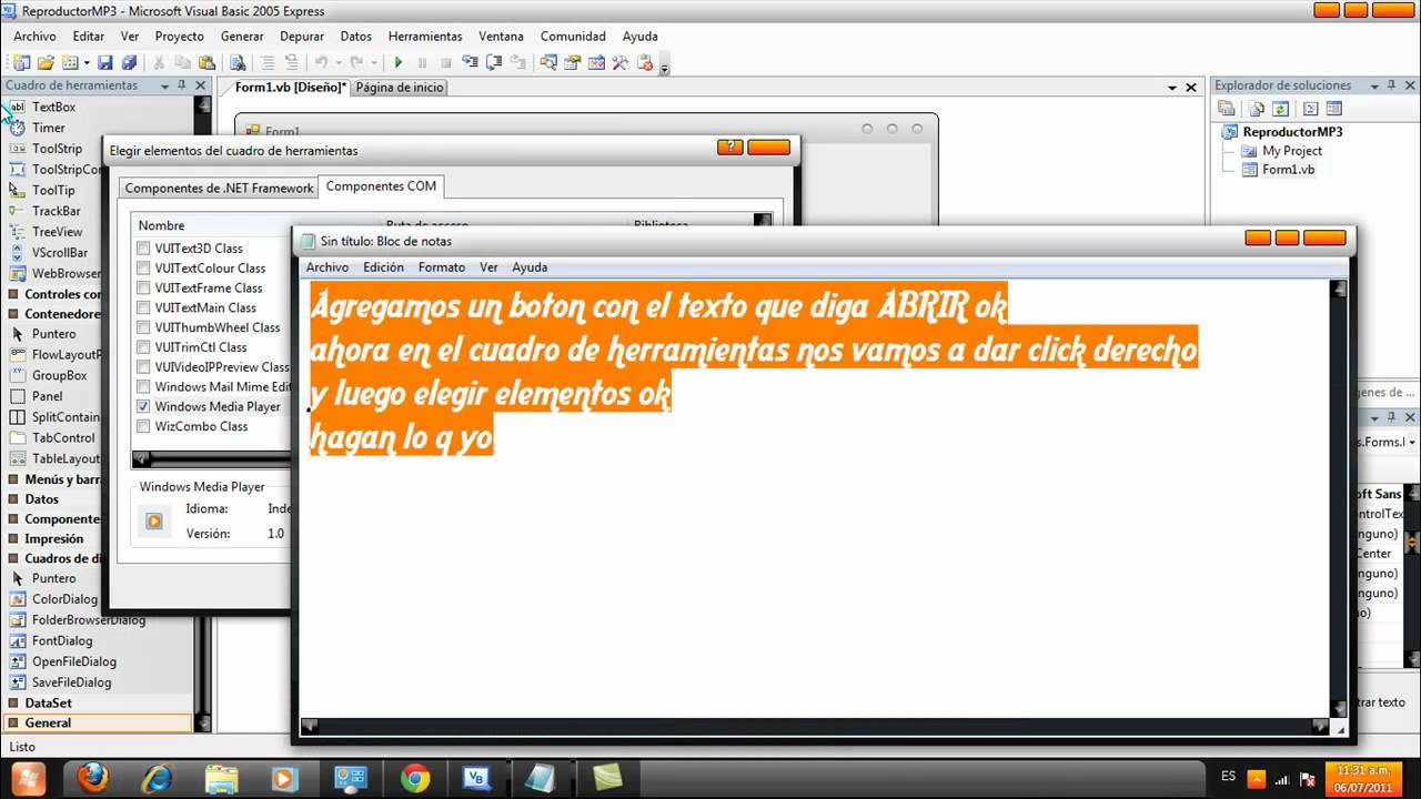 Reproductor De MP3 En VisualBasic - YouTube