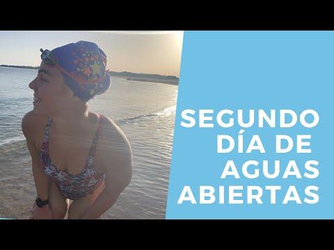 Así se entrena la nadadora olímpica ribeirense María Vilas