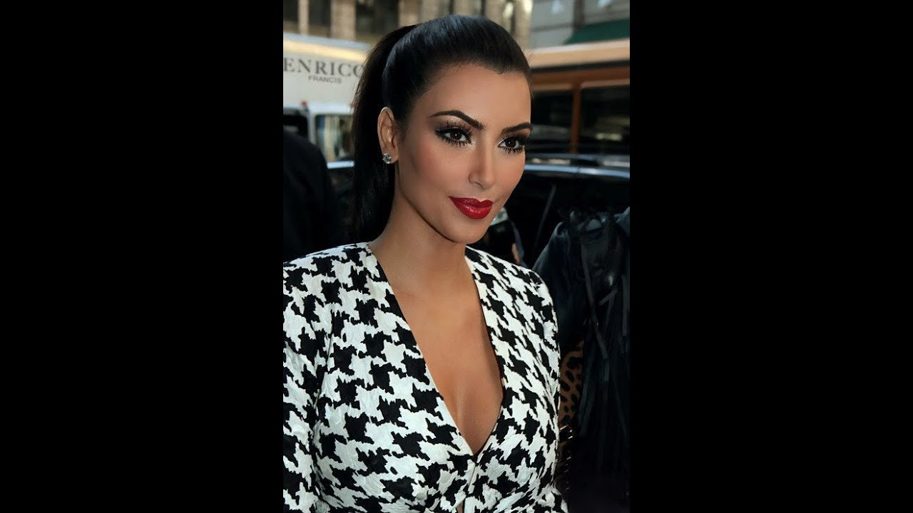 Kim Kardashian Inspired Makeup Gold Eye shadow W/Red Lips ...