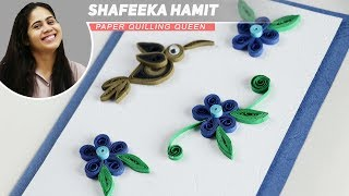 How to Make - Greeting Card Quilling Flowers - Step by Step