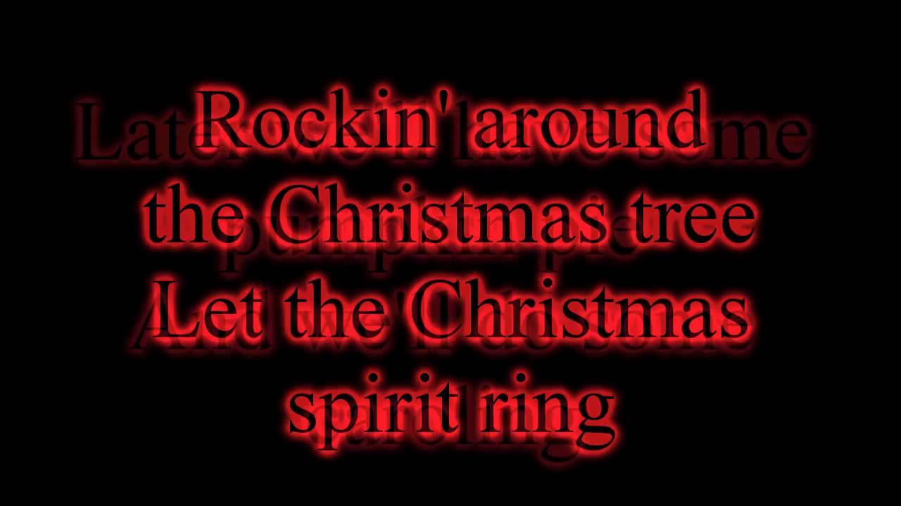 Miley Cyrus - Rockin' Around The Christmas Tree - 2010 Version - Lyrics on screen HD - YouTube