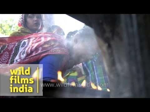 Devotees offering prayers at Kamakhya Temple