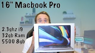 "16"" Macbook Pro Unboxing and First Impressions!"