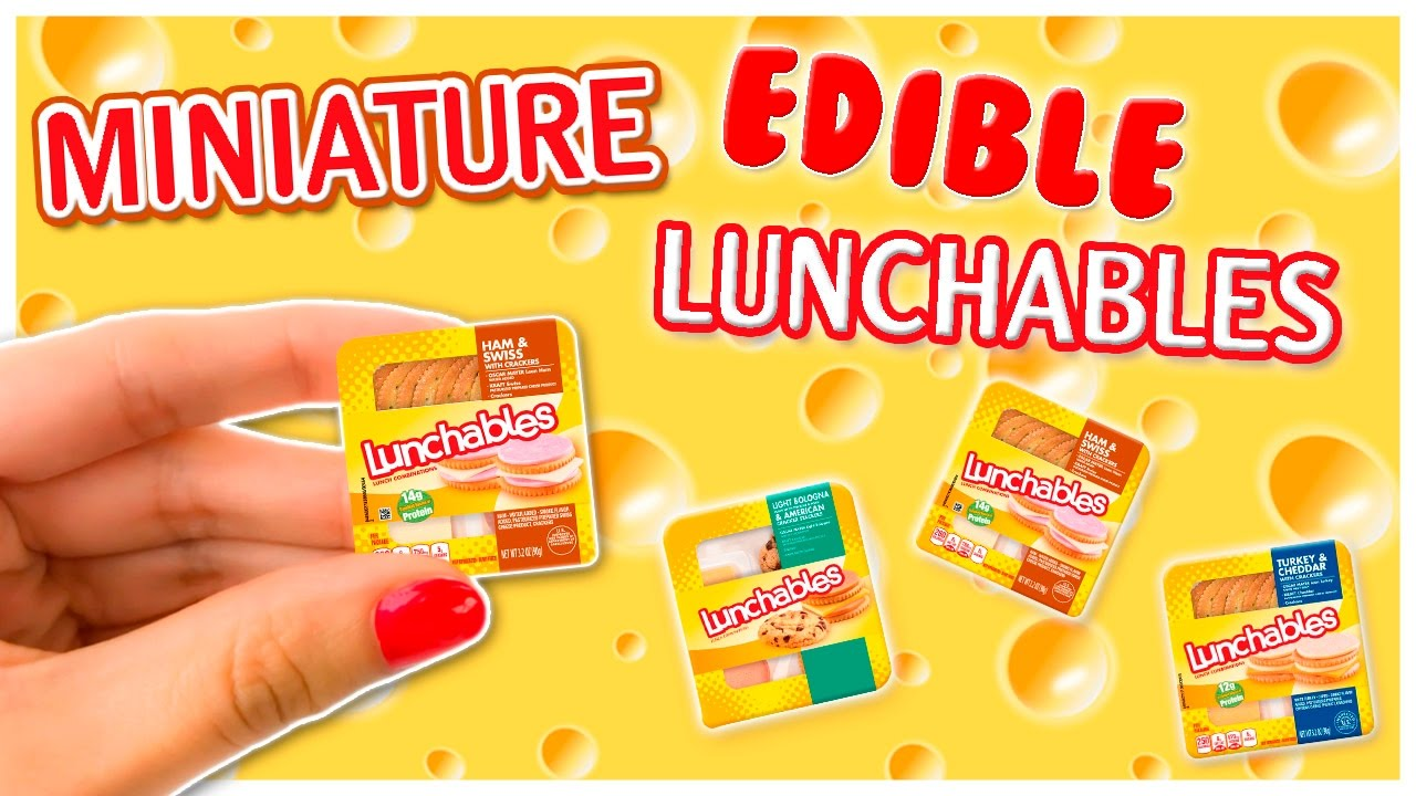 Real Miniature Edible Lunchables  Miniature Food Tutorial