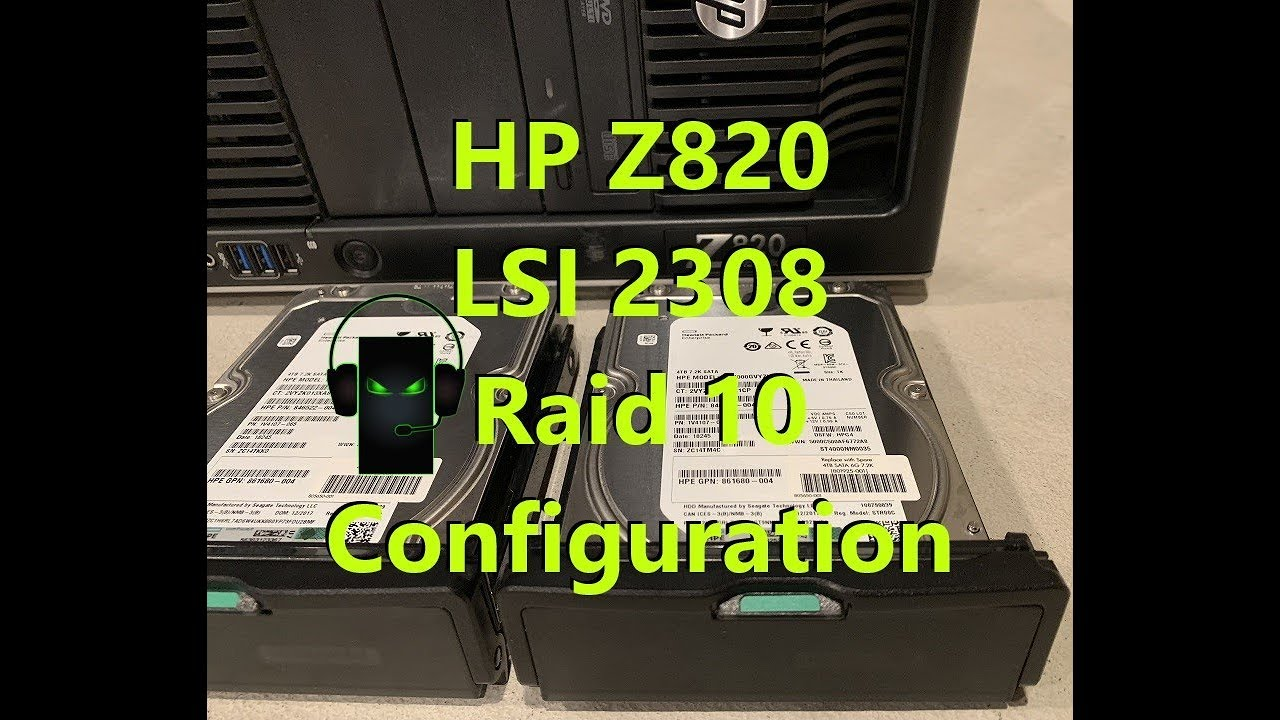 Z820 LSI 2308 Raid 10 Configuration + Windows 10 Driver Load + Benchmarks