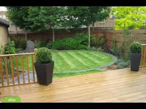 Diy decorating ideas for small garden design youtube for Easy small garden design ideas