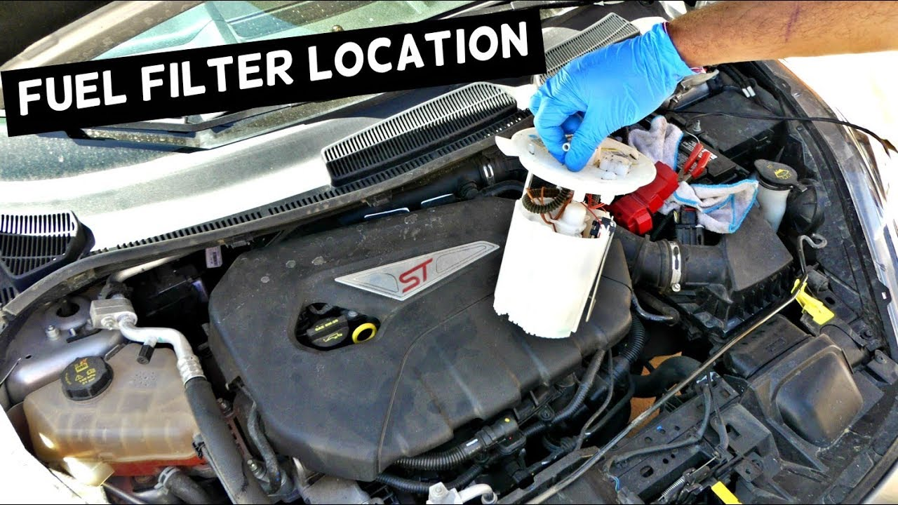 WHERE IS THE FUEL FILTER LOCATED ON FORD FIESTA ST OR FOCUS ST - YouTubeYouTube