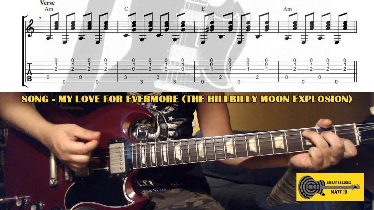 My Love For Evermore The Hillbilly Moon Explosion Guitar Chords