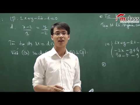 học toán online các cách giải hay hình học Oxyz khối a 2014