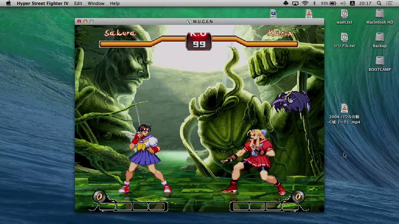 【MUGEN for Mac】Hyper Street Fighter IV Mugen 1 2【MacBook Pro】