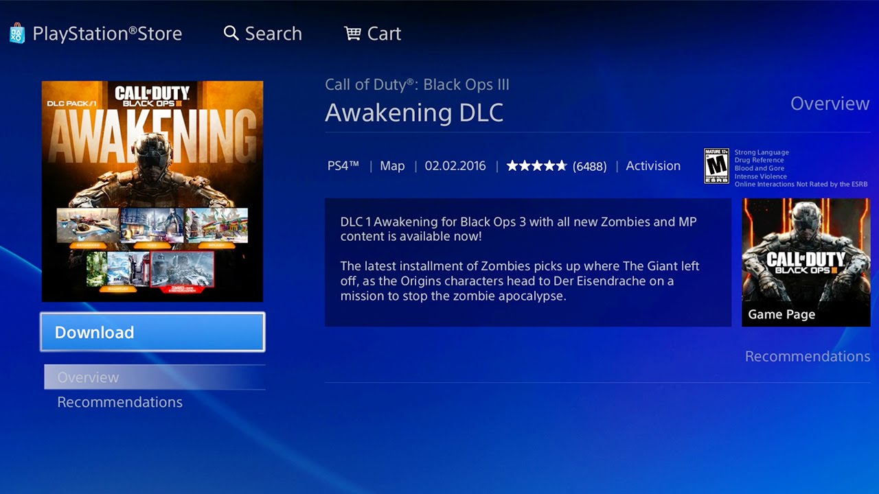 BLACK OPS 3: HOW TO DOWNLOAD THE AWAKENING DLC on PS4! (HOW TO FIND IT)