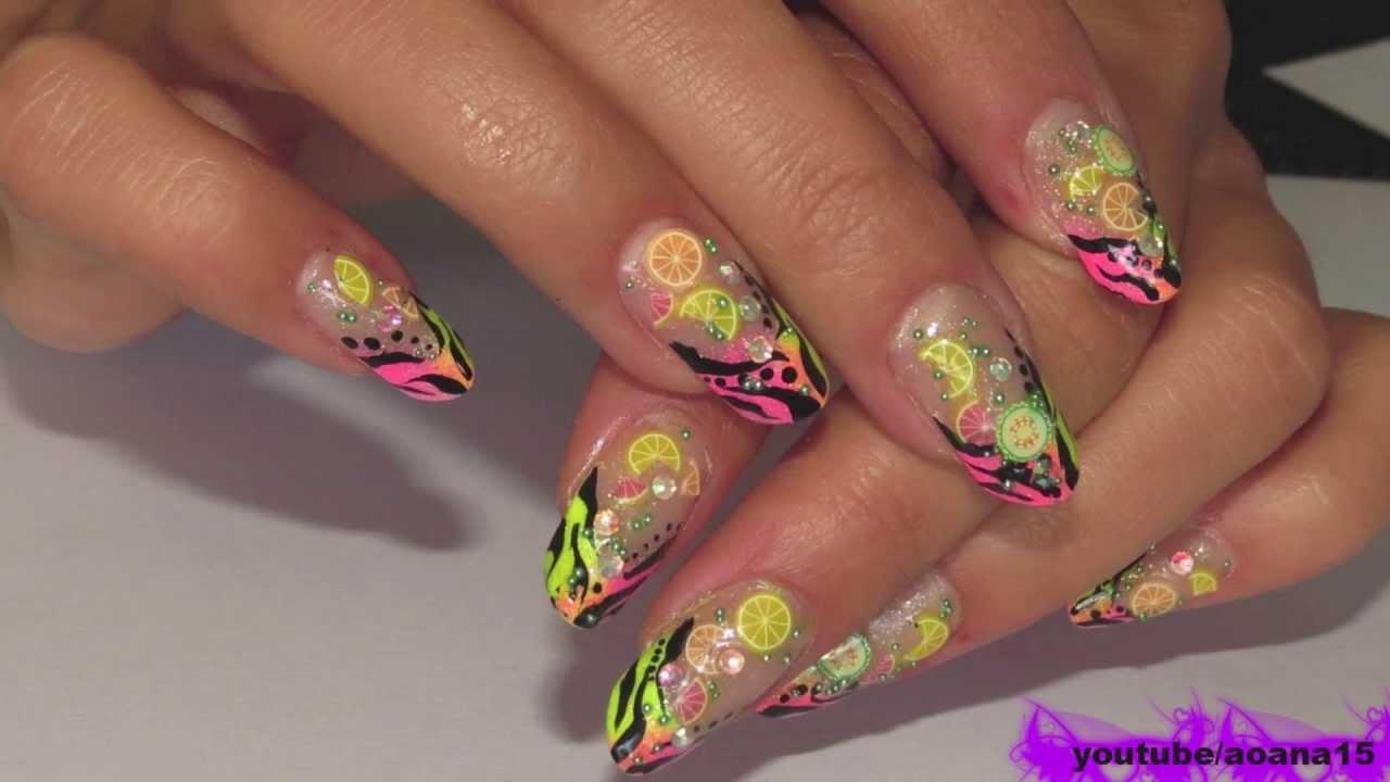 Wild And Refreshing Nail Art Fimo Sliceszebra Tiger Stripes Youtube