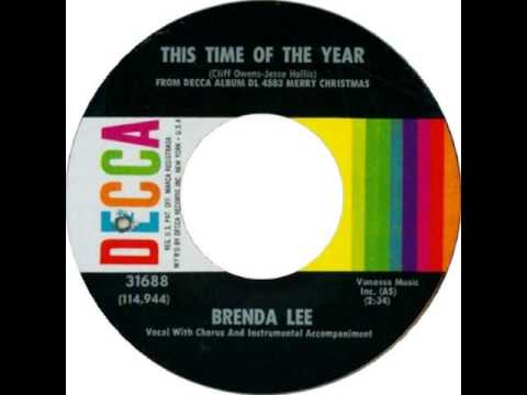 Brenda Lee. This Time Of The Year (When Christmas Is Near) (Decca 31688, 1964)