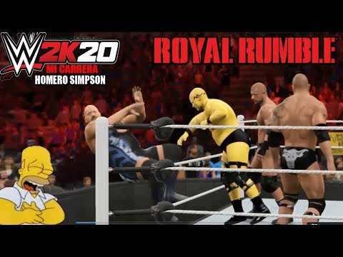 "Homero Simpson en ""ROYAL RUMBLE 2016"" (WWE World Heavyweight Championship)"