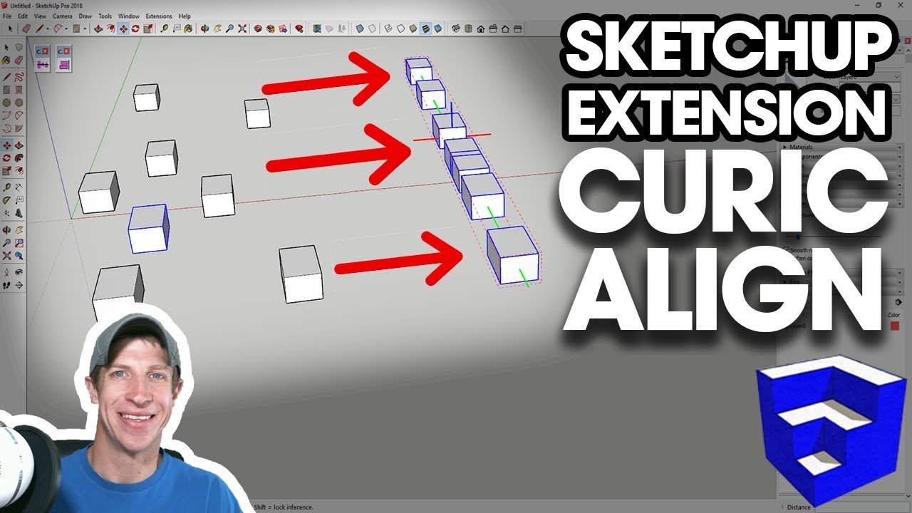 Quickly Align Objects in SketchUp with Curic Align - SKETCHUP EXTENSION  TUTORIAL