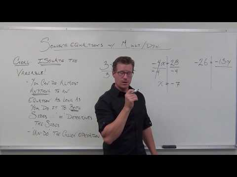 Solving Equations Using Multiplication and Division (TTP Video 4)