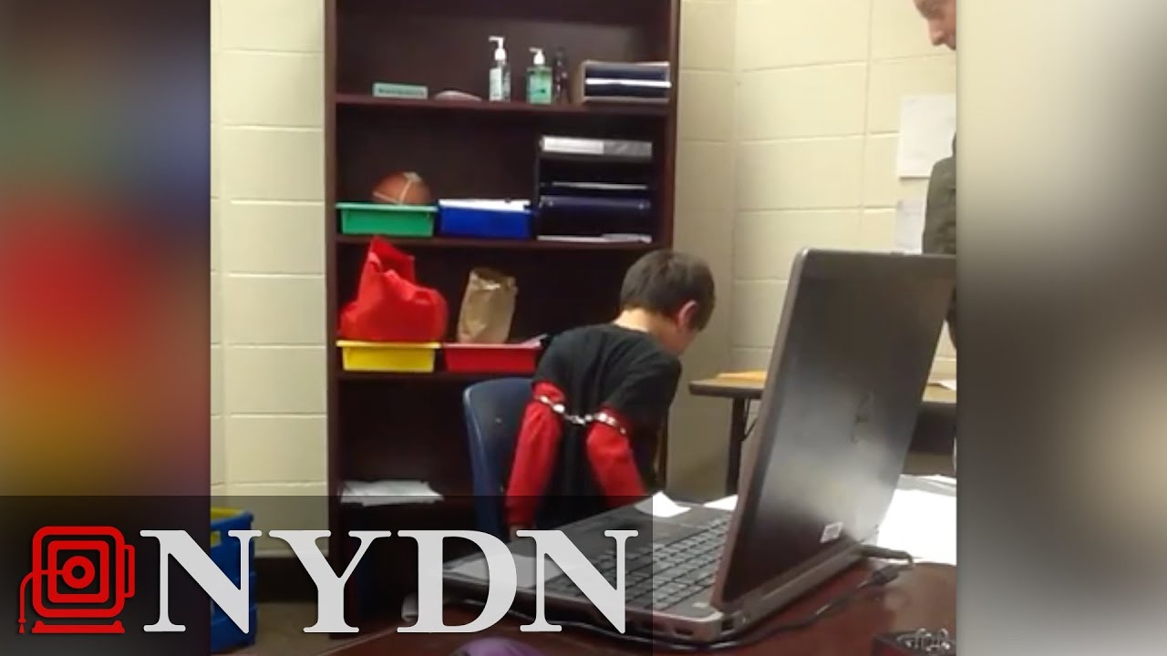 Officer handcuffs 8 year old boy who suffers adhd aclu youtube