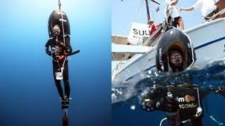 Apnea - Il record di Herbert Nitsch  a 214 m   Apnee Free Diving World record
