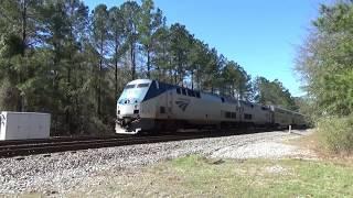 Amtrak P052 Auto Train heads through Scranton & Florence, SC 9 hours late