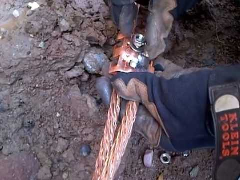 Electrician S Life Cad Welding Ground Rod To Copper