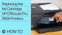 Replacing an Ink Cartridge in HP OfficeJet Pro 6900 Printers | HP OfficeJet | HP