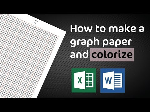 How To Make A Graph Paper In Excel And MS Word