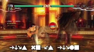 Tekken 6 BR Простые комбо Джина и Казуи