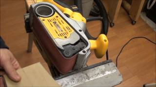 Dewalt Belt Sander Finishing Edges