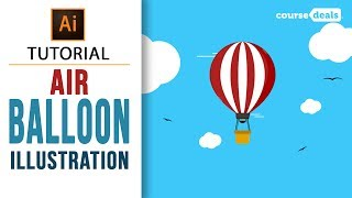 How to Create a Hot Air Balloon Illustration | Adobe Illustrator Tutorials | Course Deals