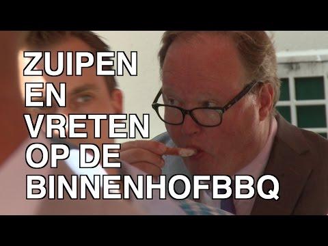 VanLeeuwen zuipt en vreet op de Binnenhof-BBQ