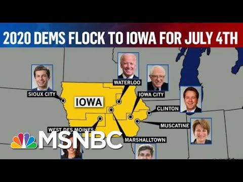 Surge Of Support For Harris & Elizabeth Warren As Candidates Flock To Iowa | Deadline | MSNBC
