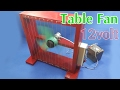How To Make A 12volt Table Fan Using 550 Motor