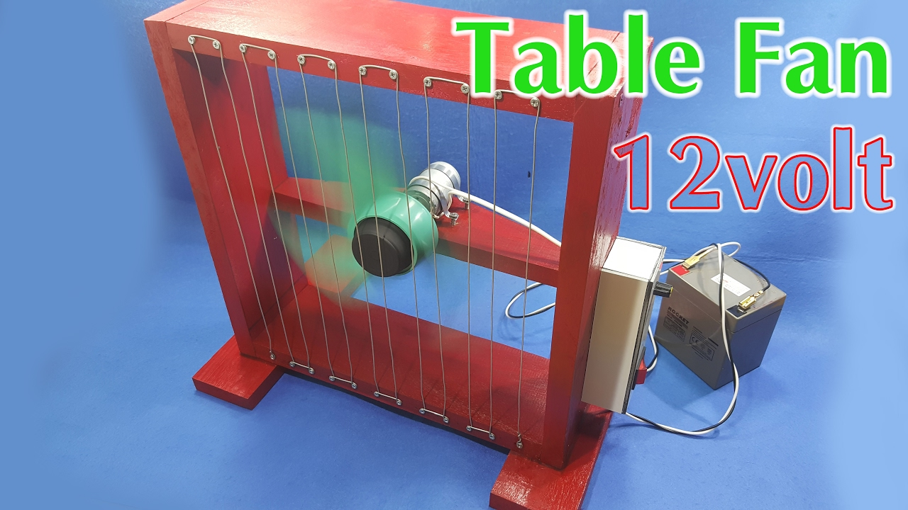 How To Make A 12volt Table Fan Using 550 Motor - YouTube