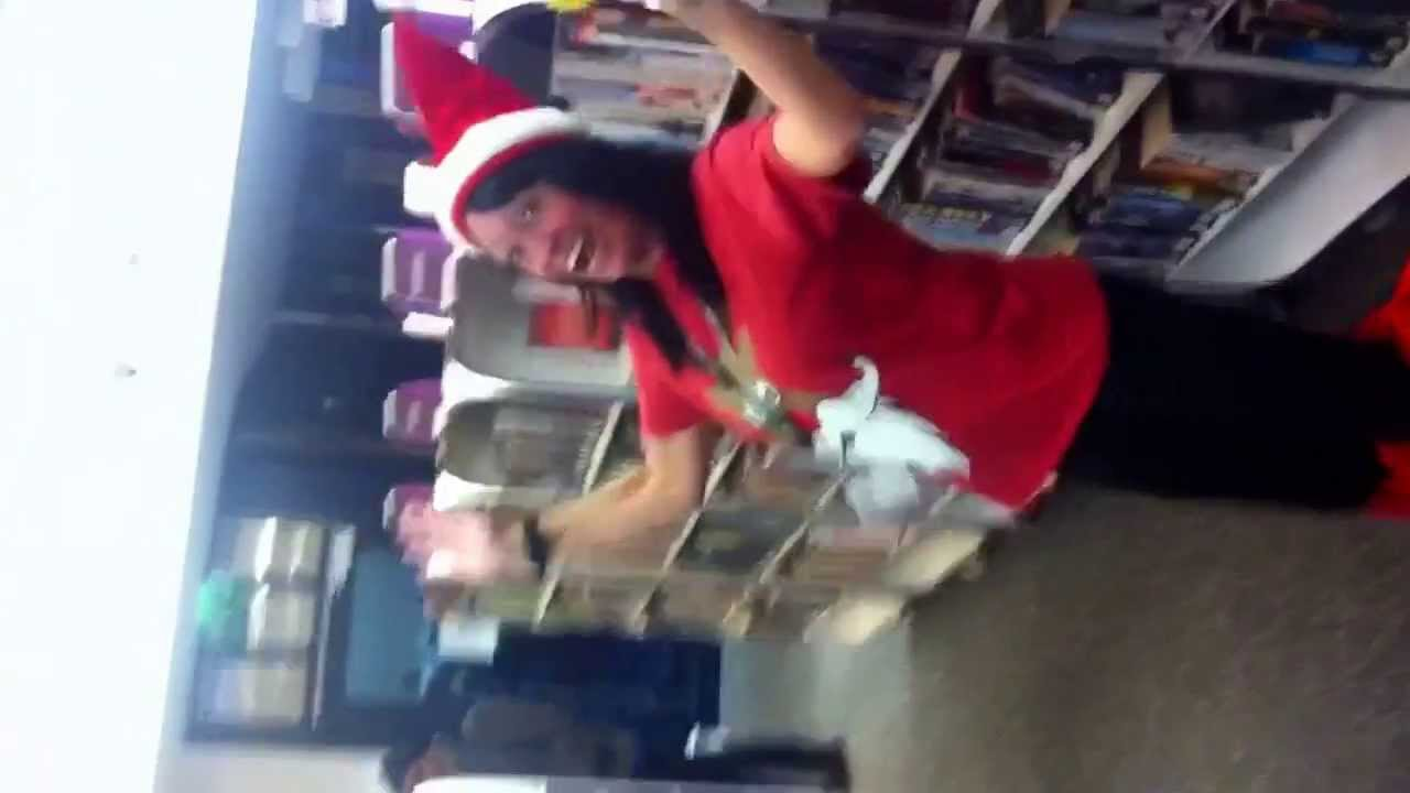 You make me wanna shout merry Xmas Christmas from oldbury library - YouTube