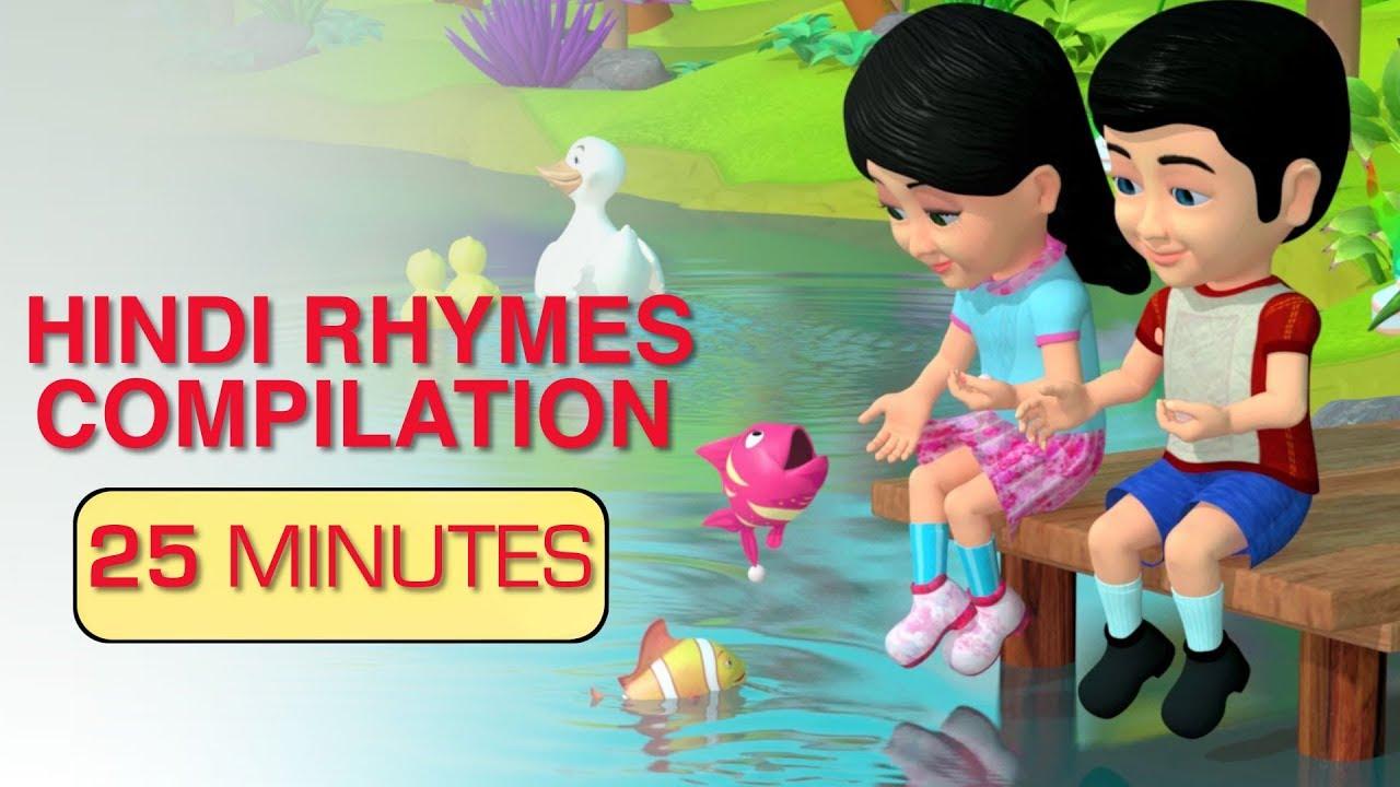hindi rhymes compilation 1   hindi baby songs ...