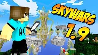 SKYWARS CON ESCUDO EN MINECRAFT 1.9!!!!