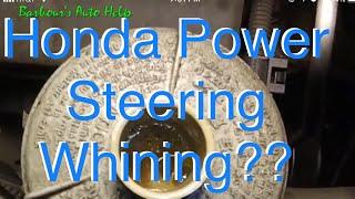 How To Cheaply Fix a Noisy Honda Power Steering Pump