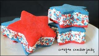 Patriotic Star Ice Cream Sandwiches - 4th of July Ice Cream Sandwich Recipe