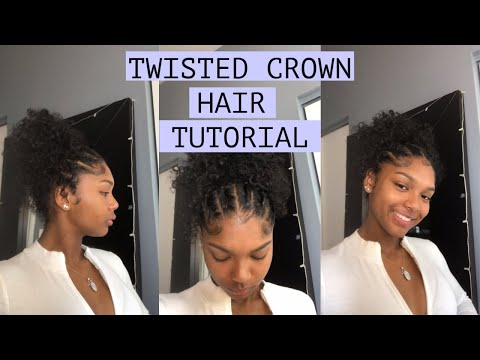 TWISTED CROWN CURLY HAIR TUTORIAL