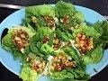 Tofu Lettuce Wrap / Xa Lach Cuon Dau Hu - (Vietnamese)