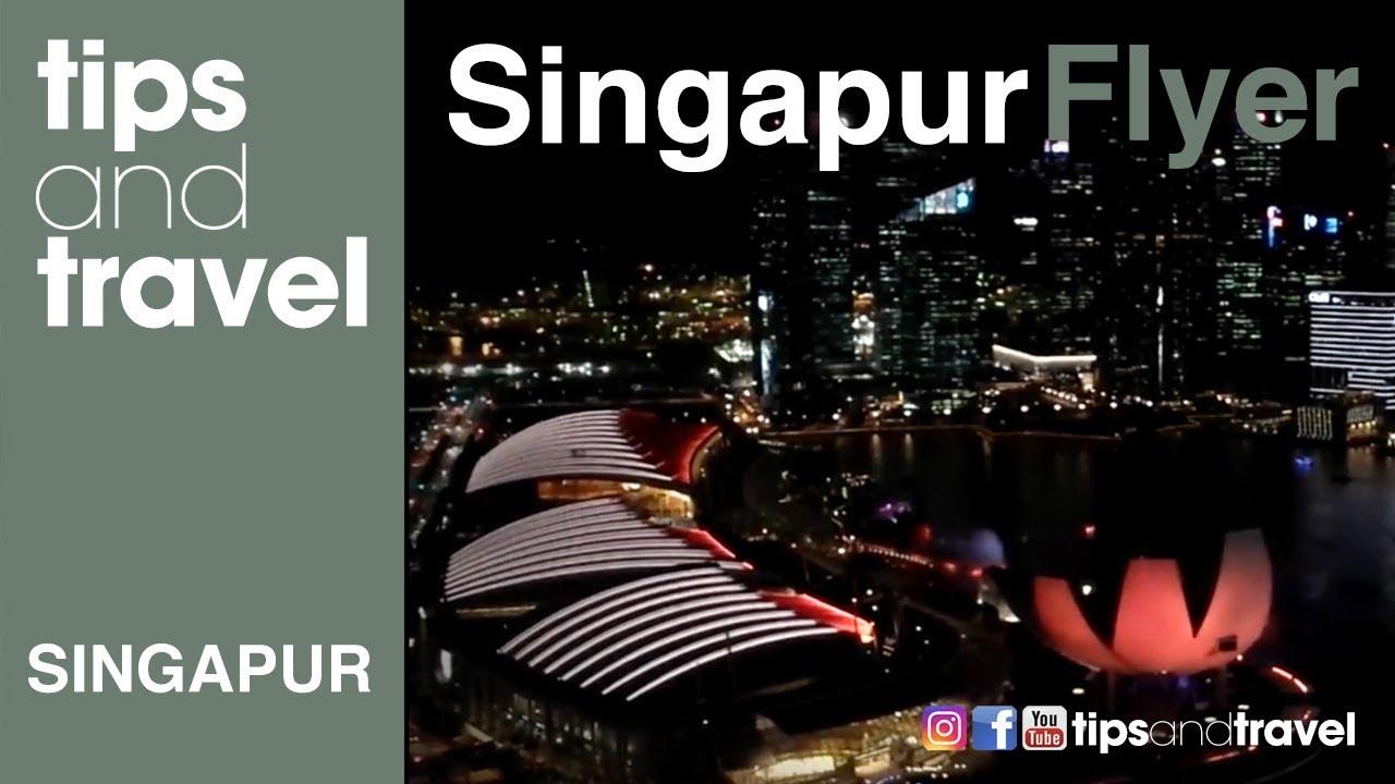 Vista Desde El Singapore Flyer Rueda De La Fortuna Noria Singapur