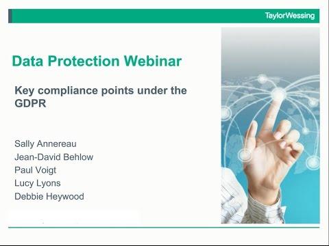 Key compliance points under the GDPR