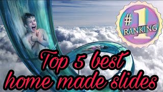 Top 5 best home made water slides/slip n slide !