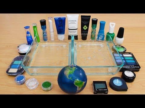 Earth - Mixing Makeup Eyeshadow Into Slime Special Series 190 Satisfying Slime