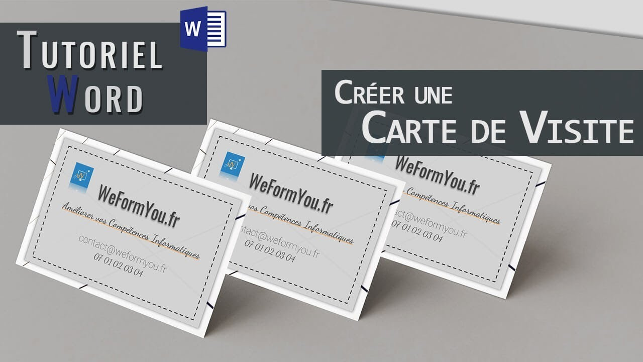 Word Creer Une Carte De Visite Youtube