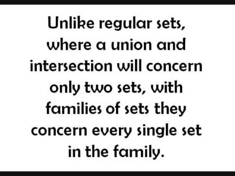 Families of Sets