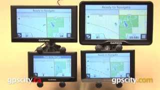"Garmin nuvi Screen Size Comparison: 4.3"", 5"", 6.1"", 7"""