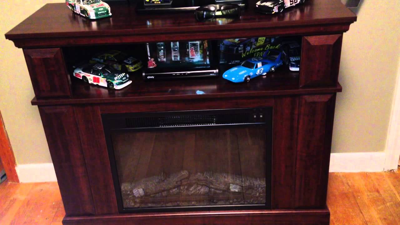 "Customer review of the Whalen fireplace console entertainment center. Holds up to a 45"" flat screen LED TV. -~-~~-~~~-~~-~- Please watch: ""Super Clean Free T..."